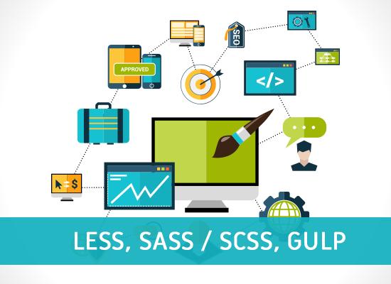 Less, Sass / Scss, Gulp Courses in Pakistan